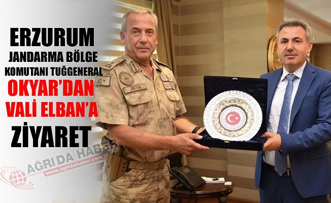 Erzurum Jandarma Komutanı OKYAR'dan Vali Süleyman ELBAN'a ziyaret