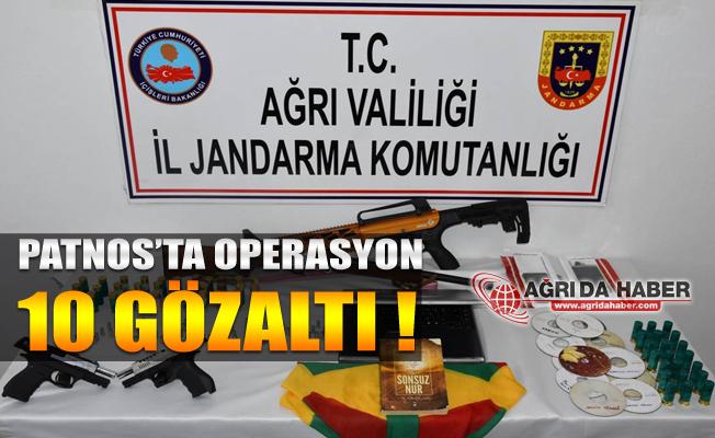 Patnos'ta PKK/KCK'yaOperasyonu! 10 Gözaltı