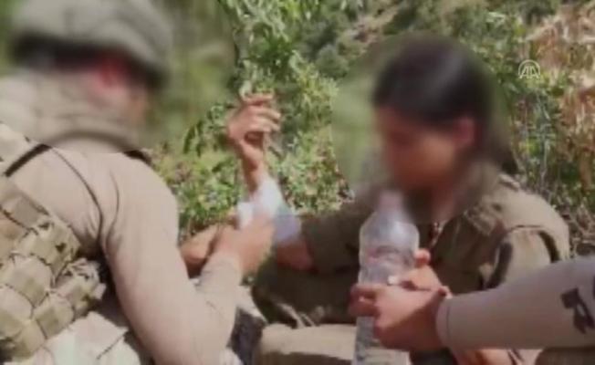 PKK'lı kadına Mehmetçik Şefkati