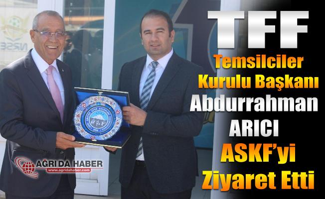 TFF Temsilciler Kurulu Başkanı Abdurrahman ARICI'dan Ağrı ASKF'ye Ziyaret