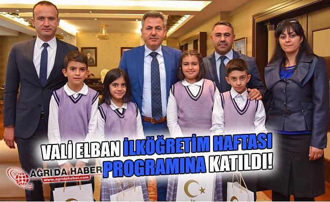 Vali Süleyman Elban İlköğretim Haftası  Programına Katıldı!