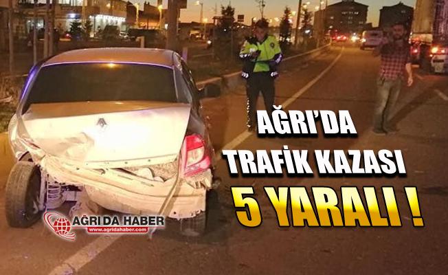 Ağrı'da Korkutan Kaza! İki Araç Çarpıştı 5 Yaralı