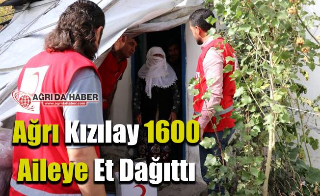 Ağrı Kızılay 1600 Aileye Et dağıttı!