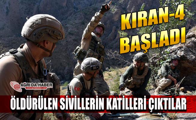 Ağrı'da Kıran-4 Operasyonunda Öldürülen PKK'lılar Sivil Katili Çıktı