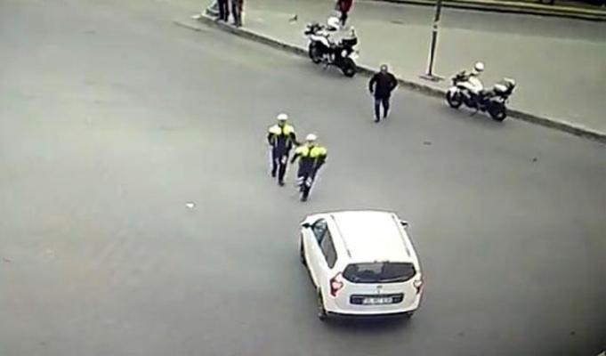 Dili Boğazına Kaçan Sürücüyü Polisler Kurtardı