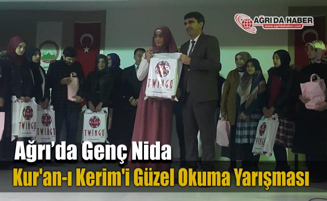 Ağrı'da İmam Hatip Ortaokulları Arası Genç Nida Kur'an-ı Kerim'i Güzel Okuma yarışması