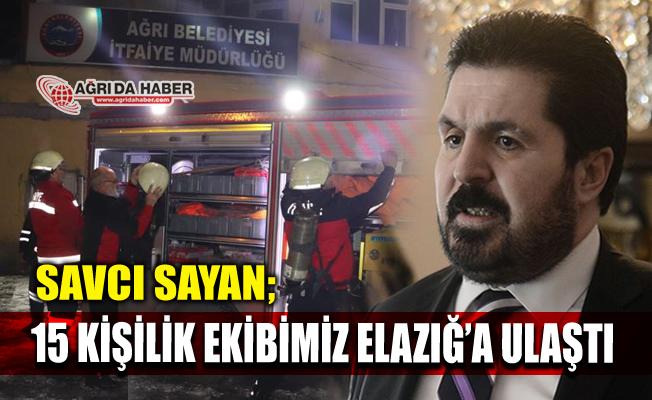 Ağrı Belediyesinden 15 kişilik Kurtarma Ekibi Elazığ'da