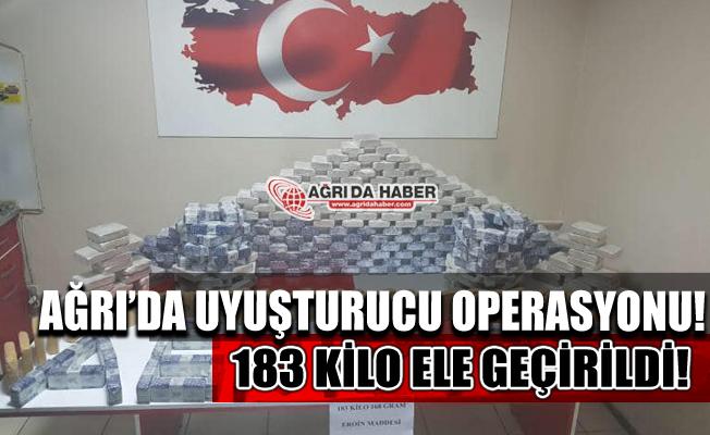 Ağrı'da Uyuşturucu Operasyonu! 183 Kilo Eroin Ele Geçirildi