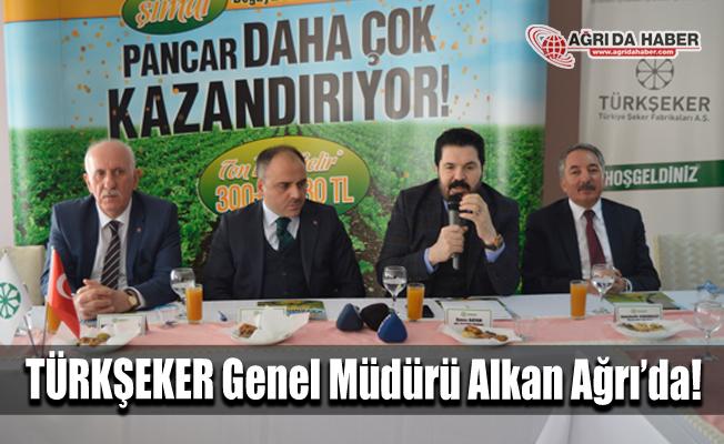 TÜRKŞEKER Genel Müdürü Mücahit Alkan Ağrı Şeker Fabrikası'nı ziyaret etti
