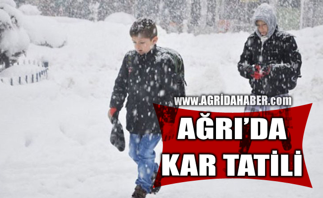 Ağrı'da yoğun kar nedeniyle Eğitime 5 Şubat Çarşamba bir gün ara verildi