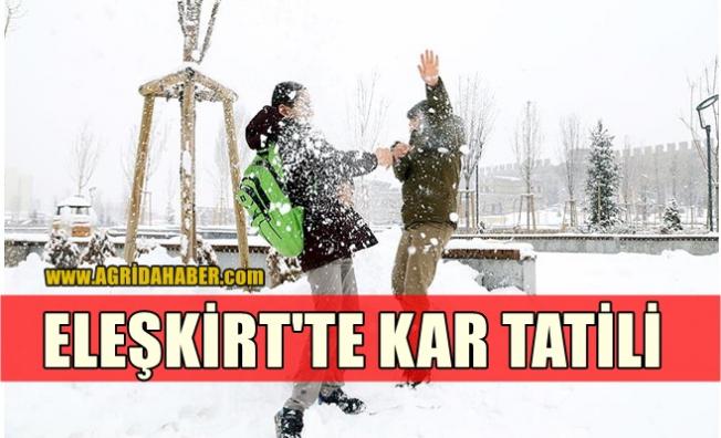 Eleşkirt'te Eğitime Kar Tatili