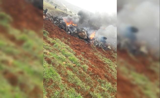 Halep'te rejim güçlerine ait helikopter düşürüldü!