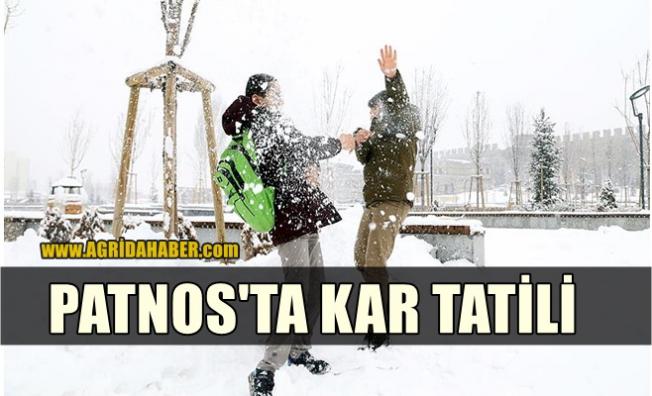 Patnos'ta Eğitime Kar Tatili