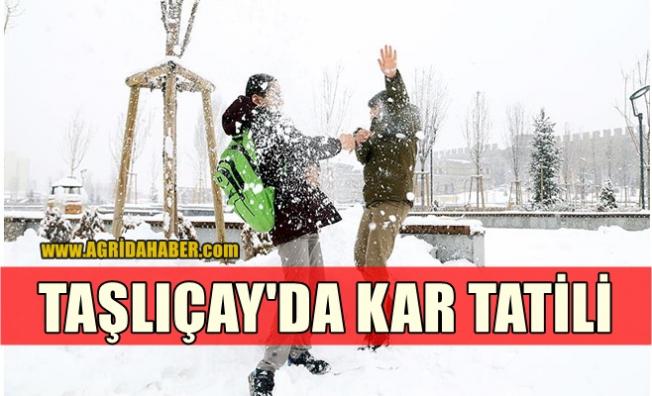 Taşlıçay'da Eğitime Kar Tatili