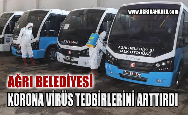 Ağrı Belediyesi Korona virüs önlemlerini Arttırdı