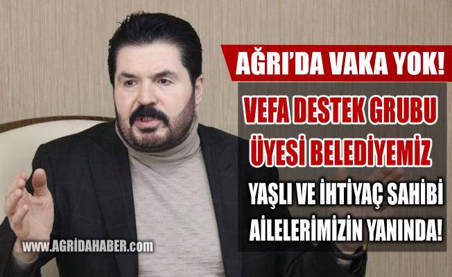 Ağrı Belediyesi Vefa Destek Grubu üyesi olarak Vatandaşın Hizmetinde