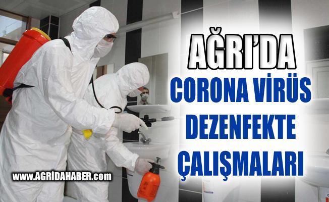 Ağrı'da 517 Okulda Corona Virüs Dezenfektesi Yapıldı