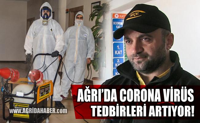 Ağrı'da Corona virüs tedbirleri Devam Ediyor
