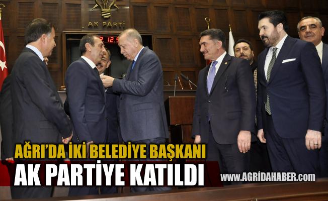 Ağrı'da İki Belediye Başkanı AK Parti'ye Katıldı