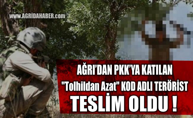 """Ağrı'dan PKK'ya katılan """"Tolhildan Azat"""" kod adlı Ramazan Güçer Teslim oldu"""