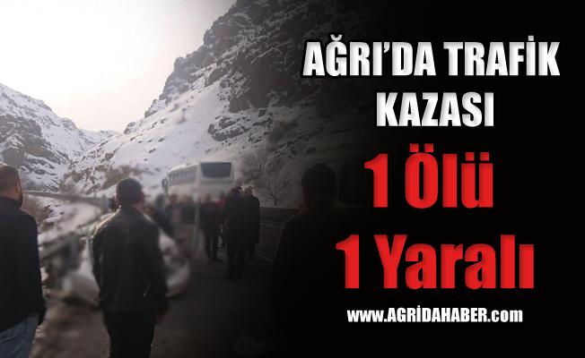 Ağrı Eleşkirt'te Trafik kazası! 1 Ölü 1 Yaralı