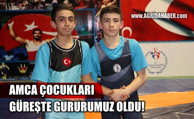 Ağrılı Amca Çocukları Güreşçilerimiz Türkiye Üçüncüsü oldular