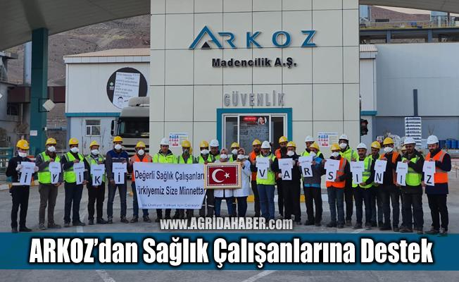 Arkoz Ağrı Çimento Fabrikasından Sağlık Çalışanlarına Destek