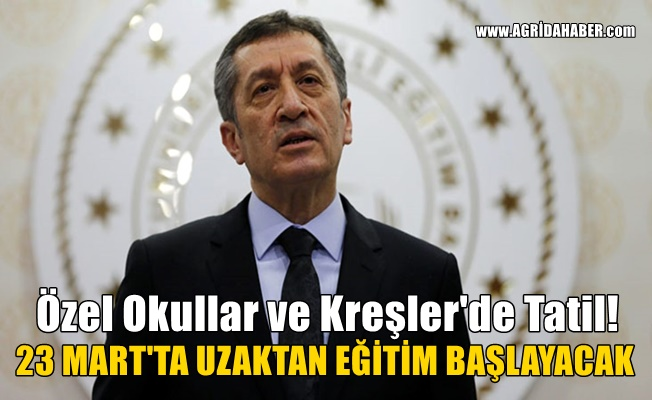 Bakanı Selçuk Açıkladı: Özel okullar ve Bakanlığa bağlı kreşlerde Tatil!