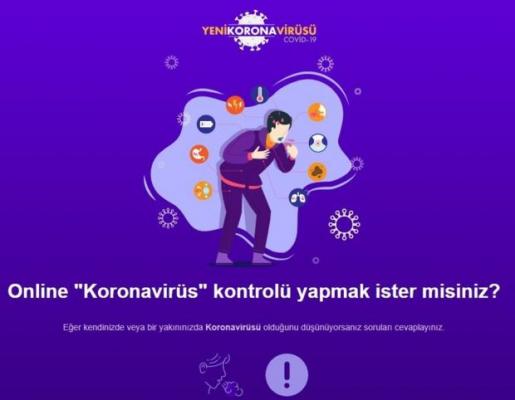 Bakanlık'dan Online Koronavirüs Testi !