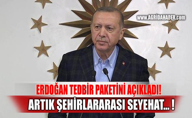 Erdoğan'dan açıklama: Şehirlerarası seyehat izne tabi