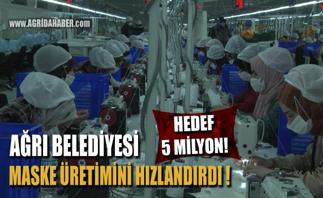 Ağrı Belediyesi Sağlık Bakanlığına 400 bin maske gönderdi