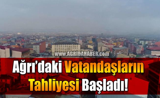 Ağrı'daki Vatandaşların Tahliyesi Başladı!
