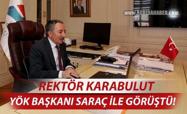 AİÇÜ Rektörü Prof. Dr. KARABULUT, YÖK Başkanı İle Telekonferansla Toplantı Yaptı