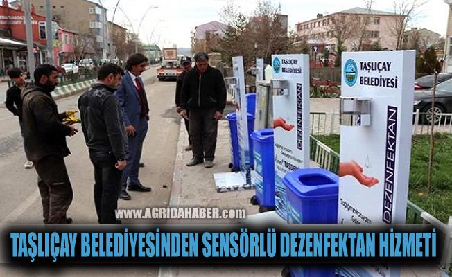 Taşlıçay Belediyesinden Sensörlü Dezenfektan hizmeti
