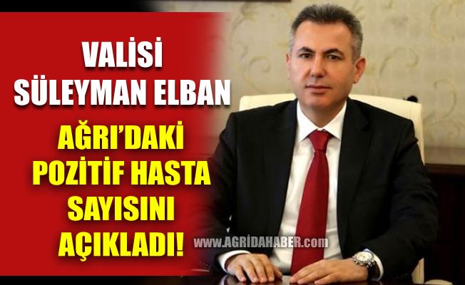 Vali Süleyman Elban Ağrı'da Koronavirüs Sayısını 37 olarak Açıkladı