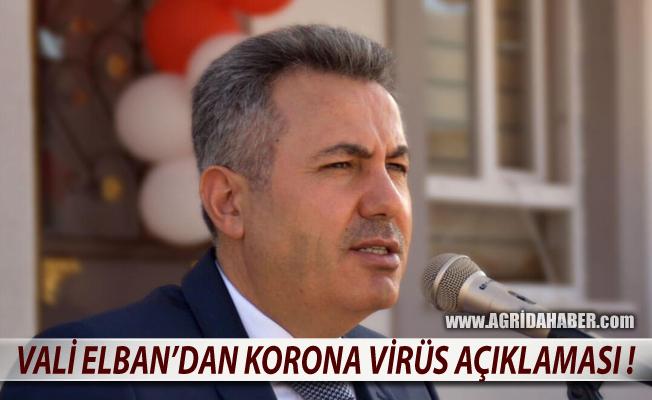 Ağrı Valisi Süleyman Elban Korona Virüs Vaka Sayısını Açıkladı