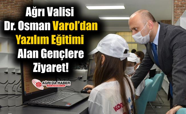 Ağrı Valisi Dr. Osman Varol'dan Yazılım Eğitimi Alan Gençlere Ziyaret
