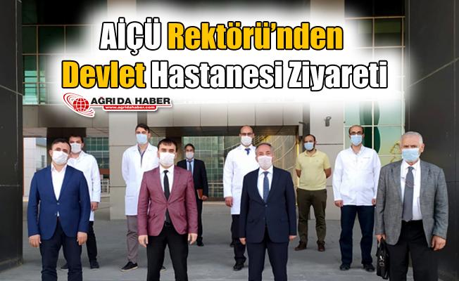 Rektör Abdulhalik KARABULUT Devlet Hastanesini Ziyaret Etti