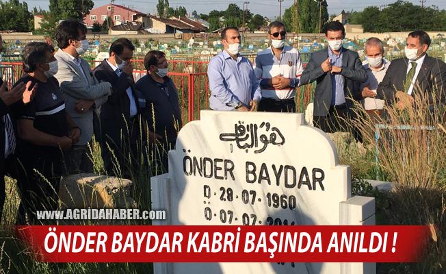 Ağrı'da Spor Camiası Önder Baydar'ı Unutmadı