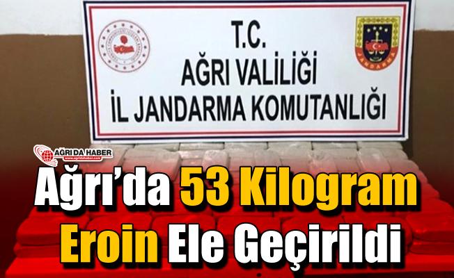 Ağrı'da 53 Kilo Eroin Ele Geçirildi