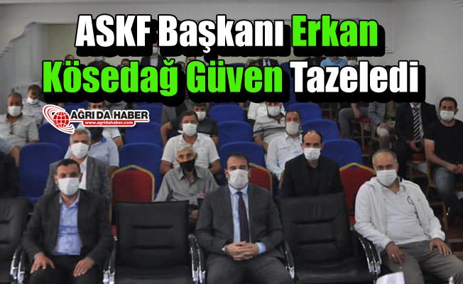 ASKF Başkanı Erkan Kösedağ Güven Tazeledi