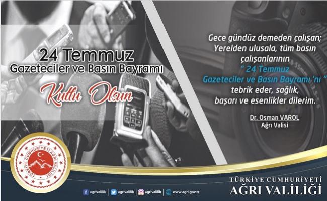 Vali Dr. Osman Varol'dan 24 Temmuz Gazeteciler ve Basın Bayramı Mesajı