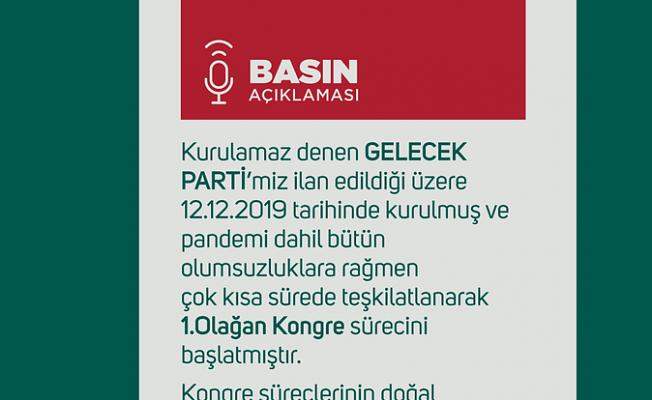 Gelecek Partisi'nin Ankara teşkilatı istifa etti