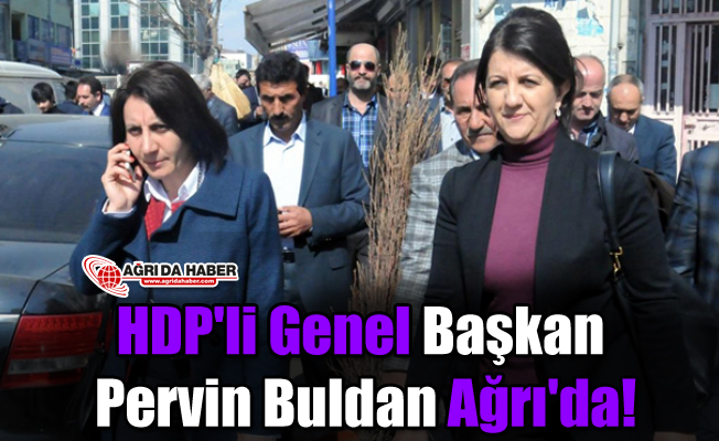 HDP'li Genel Başkan Pervin Buldan Ağrı'da