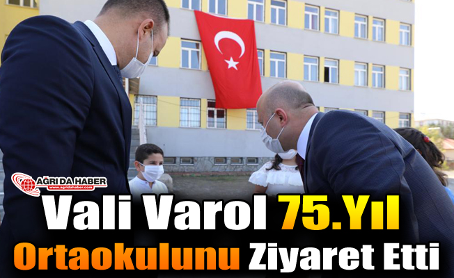 Vali Varol 75.Yıl Ortaokulu Ziyaret Etti