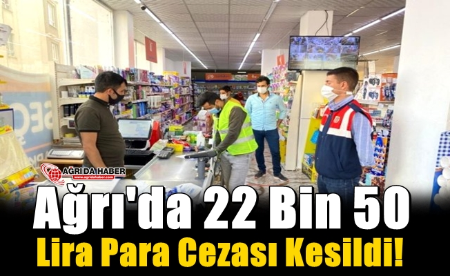 Ağrı'da 22 bin 50 Lira Cezası