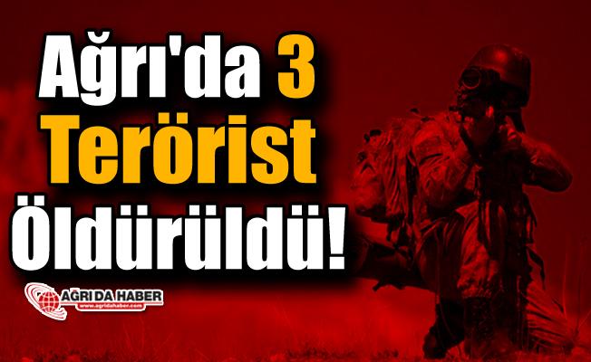 Ağrı'da 3 Terörist Öldürüldü