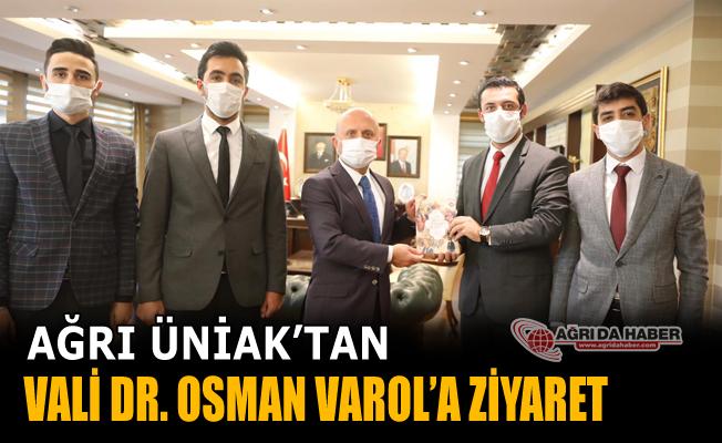 Ağrı ÜniAK'dan Vali Dr. Osman Varol'a Ziyaret