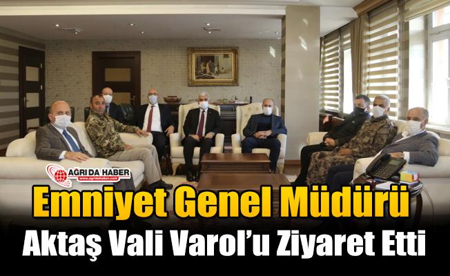 Emniyet Genel Müdürü Aktaş Vali Varol'u Ziyaret Etti