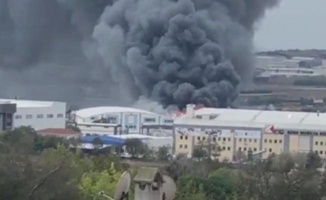 İstanbul'da Korkutan Yangın! Fabrika Alev Topuna Döndü